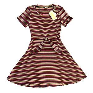 NWT Copper Key striped mini dress S